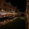 Fondamenta S. Lorenzo Trattoria at night, Venice, Italy