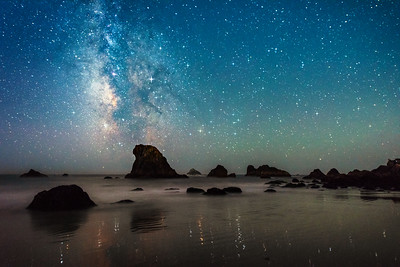 Brookings Beach & Milky Way, Brookings, OR