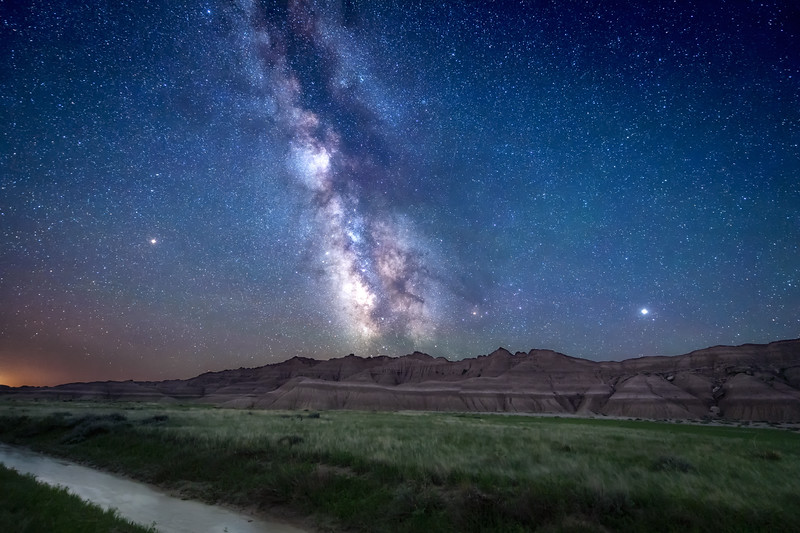 The Milky Way at Toadstool Geological Park in Northwestern Nebraska