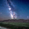 The Milky Way at Toadstool Geological Park in Northwestern Nebraska