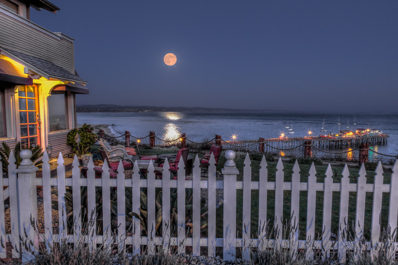 Capitola Ocean View House Moonrise 1