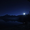 Moonrise Over Bowman Lake, Glacier National Park, Montana
