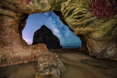 Rainbow Rock Sea Cave & Milky Way, Brookings, OR