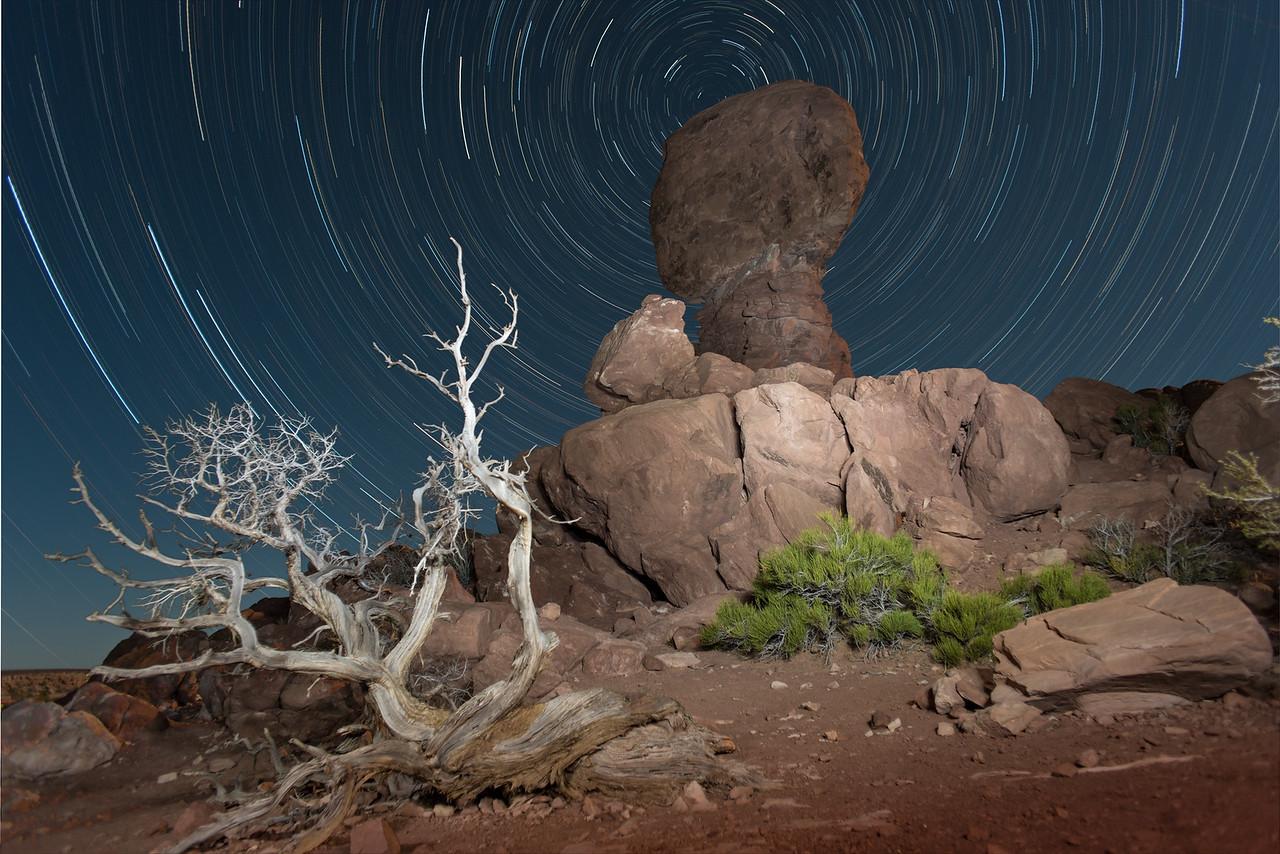 Balanced Rock & Star Trails, Utah