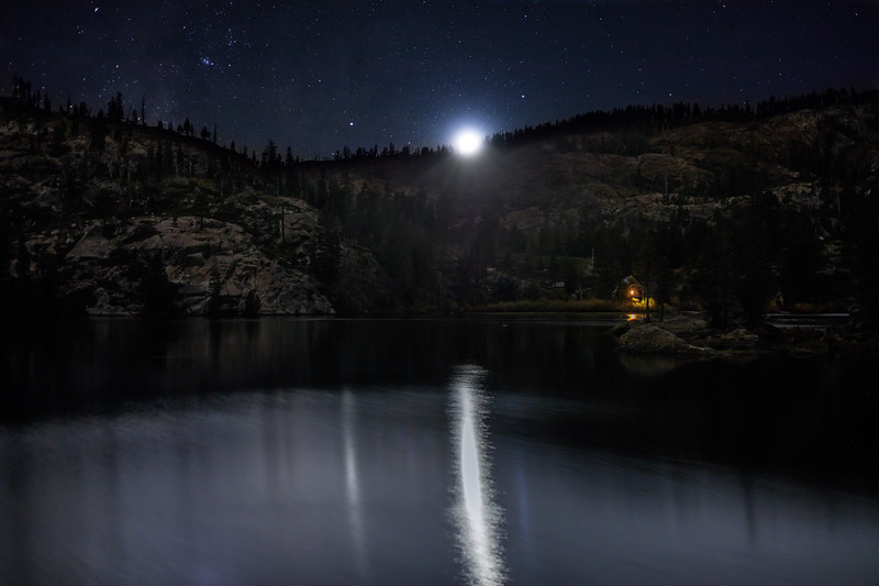 Upper Salmon Lake Moonset