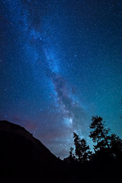 The Milky Way over Crandell Mountain Campground, Waterton Glacier National Park, Alberta, Canada