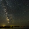 Made from 2 light frames (captured with a Canon camera) by Starry Landscape Stacker 1.6.1.  Algorithm: Median
