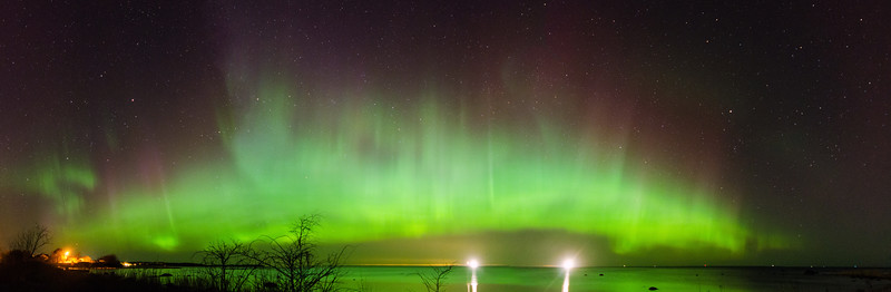 Northern Lights in Estonia on 8 April 2016