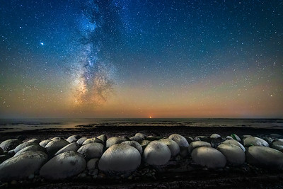 Bowling Ball Beach & Milky Way, Point Arena