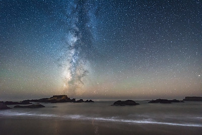 Shell Beach Night, Sea Ranch, California