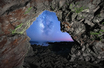 Sea Cave & Milky Way, North, Breaker Reach, Sea Ranch, California