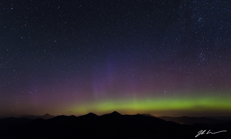 Northern Lights, Hastings Ridge, Alberta