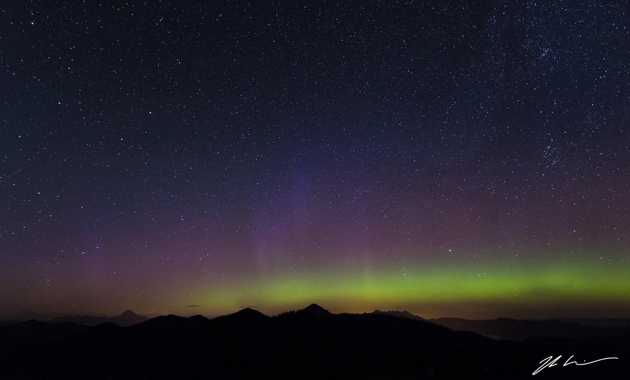 Northern Lights, Hastings Ridge, Alberta