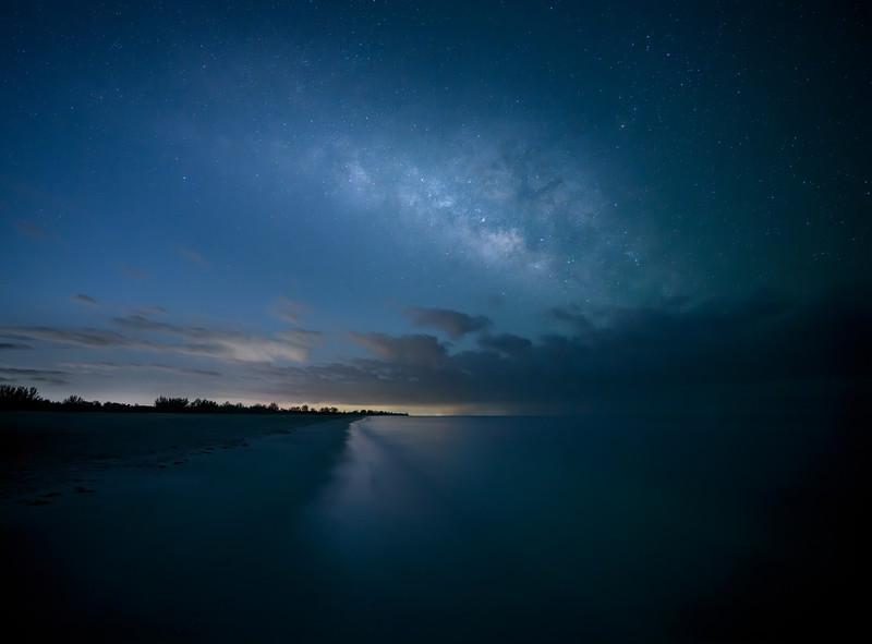 The Milky Way over the Bowman's Beach  on Sanibel Island, Florida