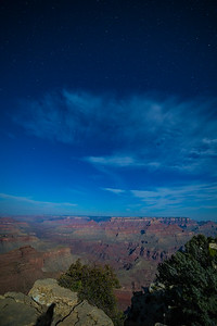 Moonlight over the Grand Canyon