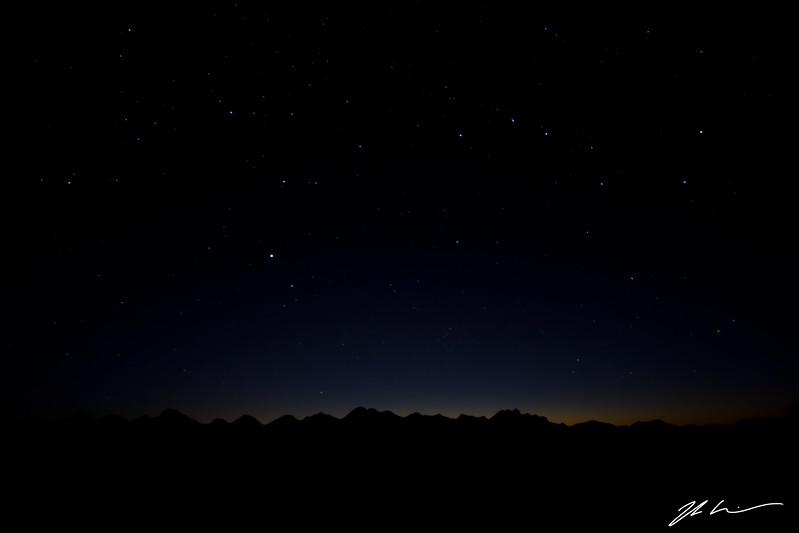 Night sky from Hastings Ridge, Alberta