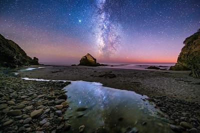 St Orres Creek & Milky Way, Gualala, California