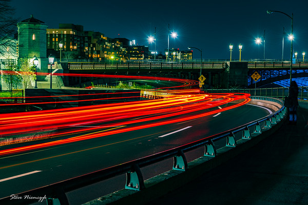 Boston Traffic at Night