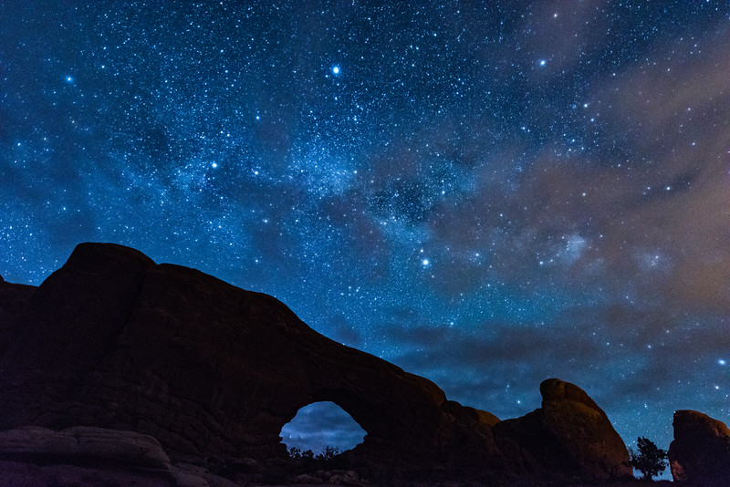 Night Sky over Arches National Park, Moab, Utah