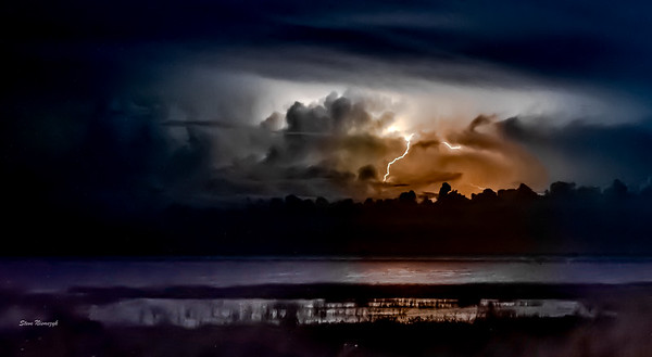 Lightning over Lake Okeechobee