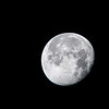 Waning Gibbous moon over Babcock Wildlife Management Area near Punta Gorda, Florida