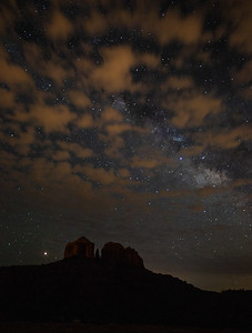Starry Night over Cathedral Rock