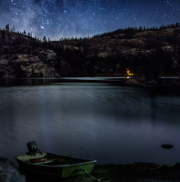 Upper Salmon Lake Night Scene