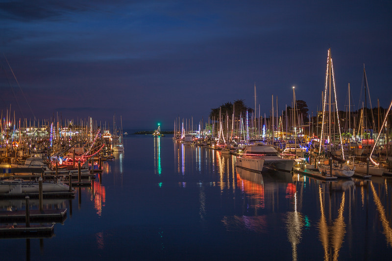 Santa Cruz Harbor Christmas Lights