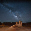 The Milky Way over the hoodoos in Goblin Valley at Goblin Valley State Park near Hanksville, Utah
