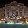 Trevi Fountain at night, Rome, Italy