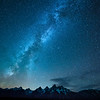 The Milky Way over the Teton Range, Grand Teton National Park, Wyoming