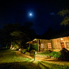 Full moon over Ol Tukai Lodge, Amboseli National Park, Kenya, East Africa