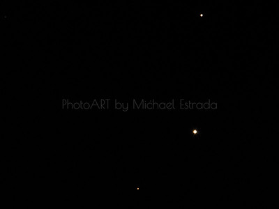 Meeting in the Sky: Mars, Venus and Jupiter