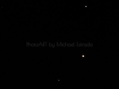 Meeting in the Sky: Mars, Venus and Jupiter