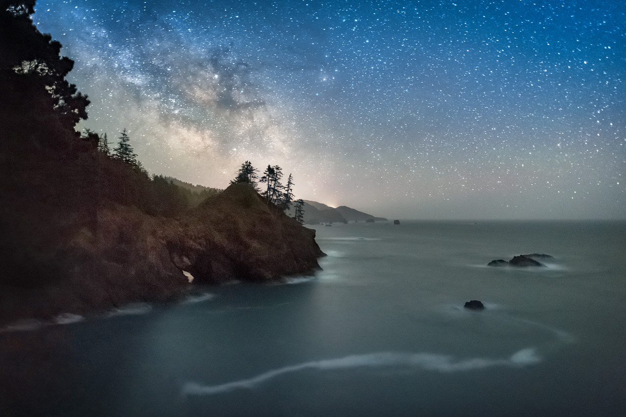 Thunder Cove & Milky Way, Brookings, OR