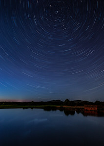 Star Trails over the Pond