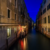 The Metropole at night, Venice, Italy