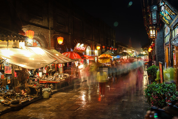 Busy Night Market, Pingyao, China