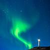 Northern Lights over the Reykjanesviti Lighthouse, Reykjanes Peninsula, Iceland