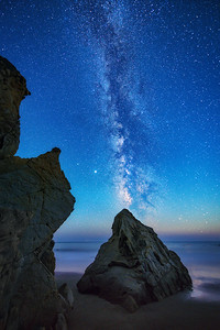 Salal Beach & Milky Way, Sea Ranch, California