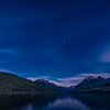 Star Trails over Bowman Lake, Glacier National Park, Montana