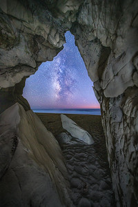Walk o Beach Sea Cave & Milky Way, Study 2, Sea Ranch, CA