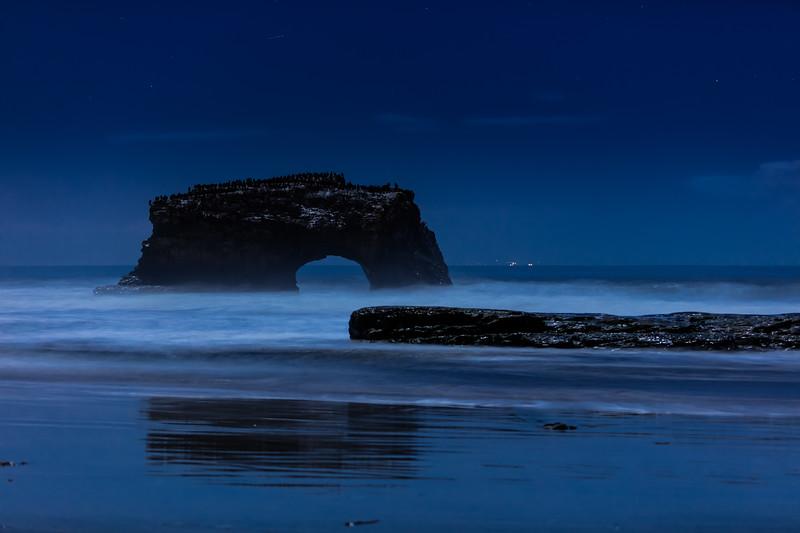Night Reflections at Natural Bridges 1