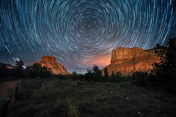 Star trails in Sedona, Arizona