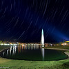 Star Trails over Fountain in Fountain Hills