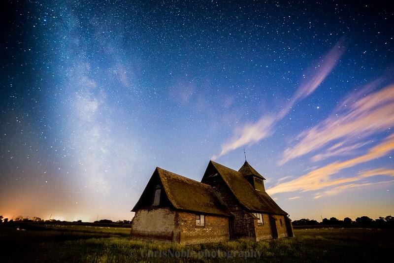St Thomas Becket Church at night