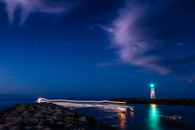 Stars Over the Harbor Jetty 2