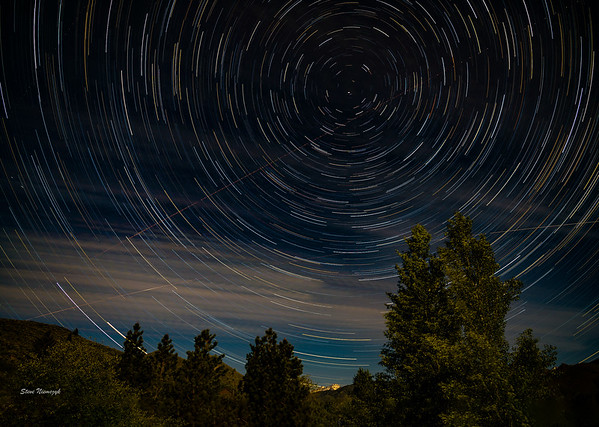 Star Trails in Sun Valley