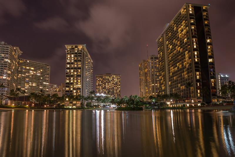 Waikiki Evening Reflections