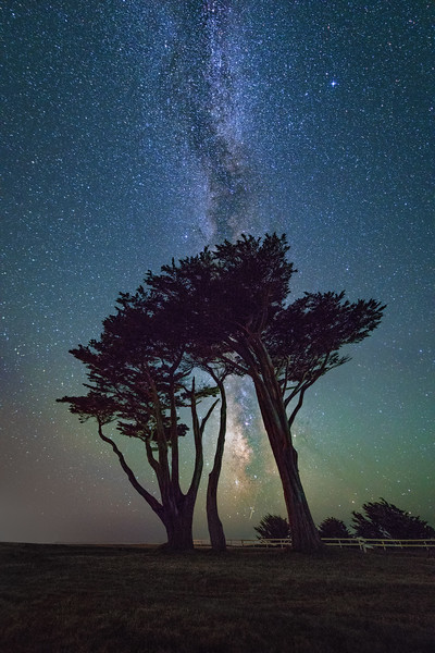 Milky Way & Shooting Star, Point Arena, California